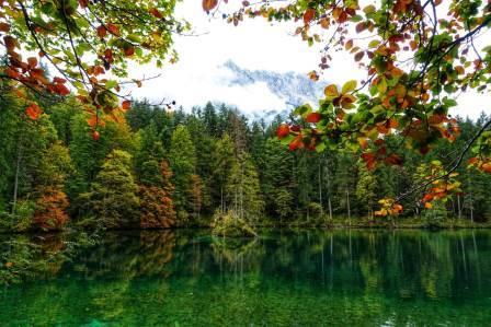 Spiegelung am Badersee